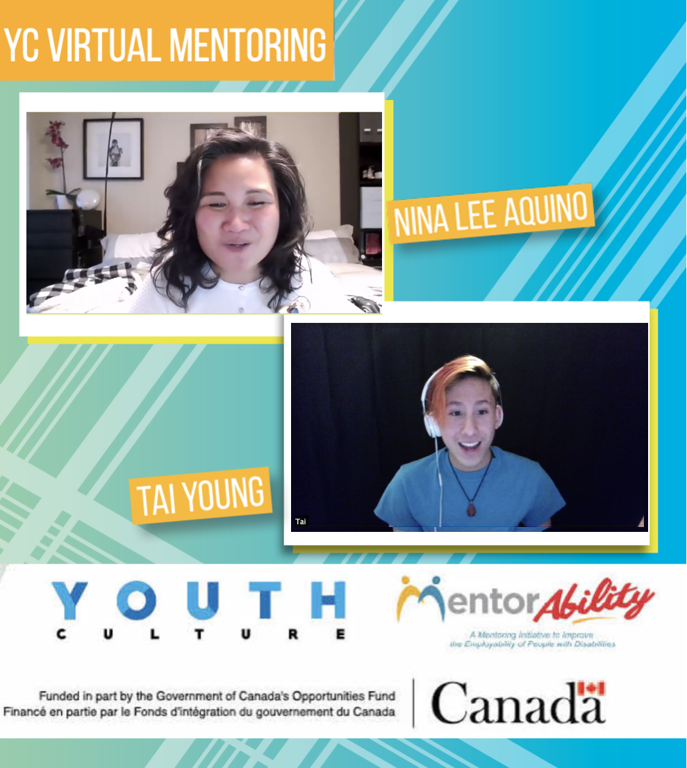 Tai and Nina participating in MentorAbility program through Youth Culture