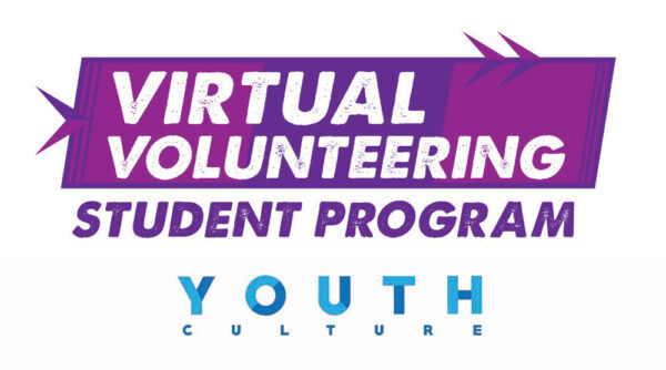 Virtual Volunteering Logo in purple for Youth Culture