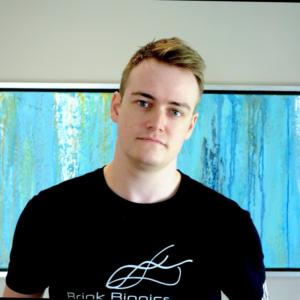Erik Lloyd in a black shirt